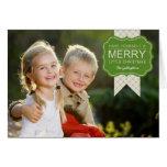 Tarjeta elegante de la foto del navidad del adorno