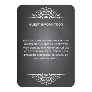Tarjeta elegante de la huésped Info del boda de la Comunicado Personalizado