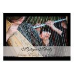 Tarjeta elegante de la industria musical de la arp plantillas de tarjetas personales