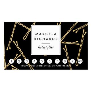 Tarjeta elegante de la lealtad del salón de pelo tarjetas de visita