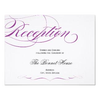 """Tarjeta elegante de la recepción de la escritura - invitación 4.25"""" x 5.5"""""""