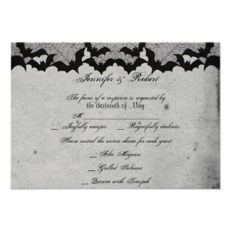 Tarjeta elegante de la respuesta del boda del cord comunicados personalizados