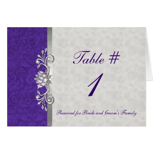Tarjeta elegante de la tabla del boda