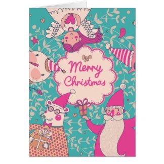 Tarjeta elegante de las Felices Navidad