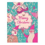 Tarjeta elegante de las Felices Navidad Postales