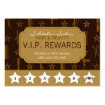 Tarjeta elegante de las recompensas de la lealtad  tarjetas de visita