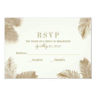 "Tarjeta elegante de RSVP de la palma Invitación 3.5"" X 5"""