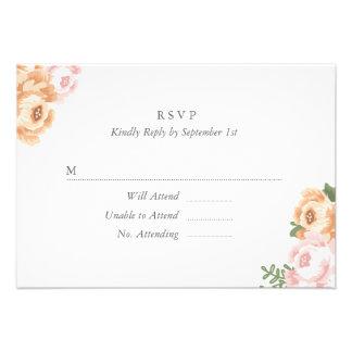 Tarjeta elegante de RSVP del tarro de albañil Invitación