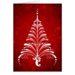 Tarjeta elegante del árbol de navidad