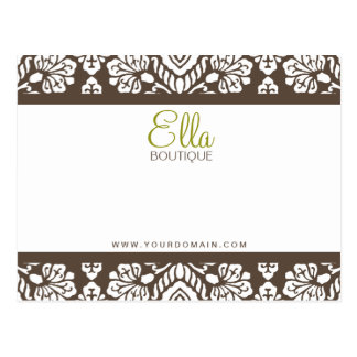 Tarjeta elegante del arco del damasco de Ella #1 B Postales
