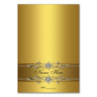 Tarjeta elegante del asiento del oro