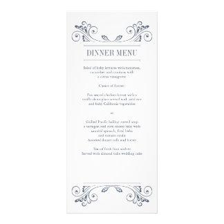 Tarjeta elegante del estante del menú de la recepc lona publicitaria