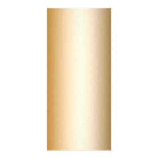 Tarjeta elegante del estante del oro lona publicitaria