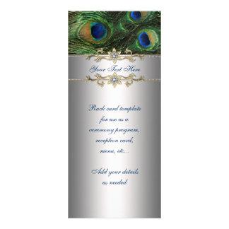 Tarjeta elegante del estante del pavo real del ver tarjeta publicitaria personalizada