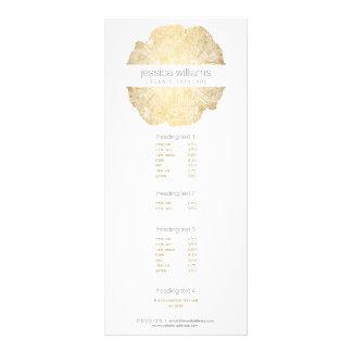 Tarjeta elegante del estante del salón del anillo tarjeta publicitaria personalizada