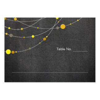Tarjeta elegante del lugar del amarillo de la tarjetas de visita grandes