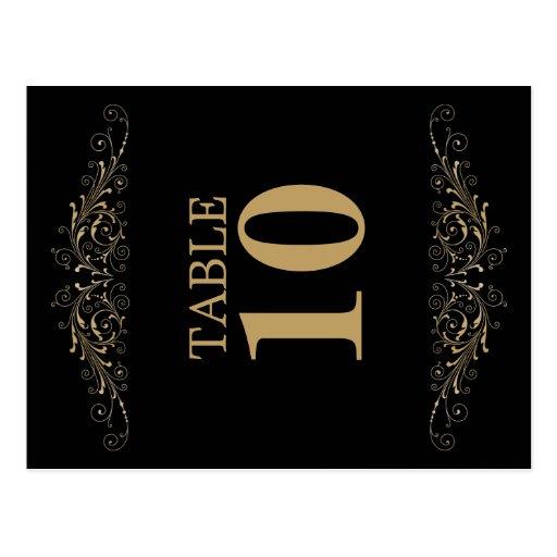 Tarjeta elegante del número de la tabla del postal