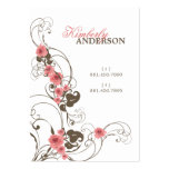 tarjeta elegante del perfil de Fleur de los rosas