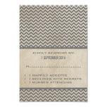 Tarjeta elegante gris de la respuesta de Chevron Invitación 8,9 X 12,7 Cm