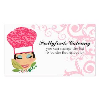 Tarjeta elegante hispánica italiana del cocinero d plantilla de tarjeta personal