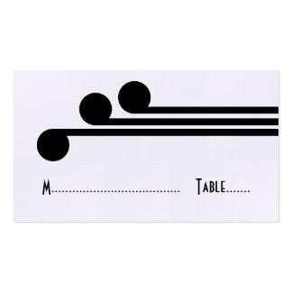 Tarjeta elegante simple negra del lugar de Deco Tarjetas De Visita