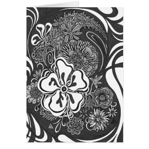 Tarjeta en blanco adaptable floral del color el |