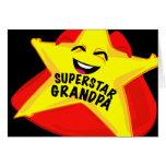 ¡tarjeta en blanco chistosa del abuelo de la super