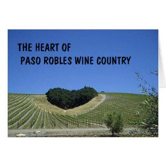 Tarjeta en blanco: Corazón del país vinícola de Pa