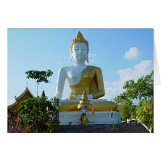 Tarjeta en blanco de Buda Chiang Mai Tailandia