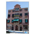 Tarjeta en blanco de caja de ventana de Venecia It