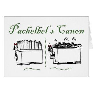 Tarjeta en blanco de Canon de Pachelbel