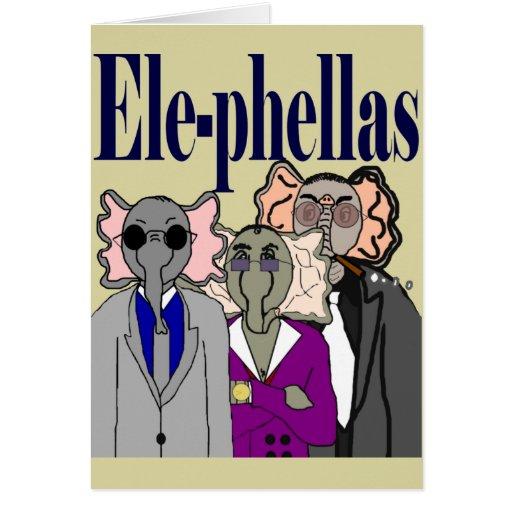 Tarjeta en blanco de Ele-Phellas