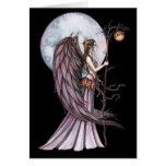 Tarjeta en blanco de hadas de la luna gótica del o