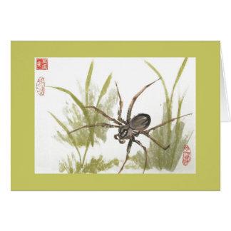 Tarjeta en blanco de la araña del Recluse de Brown