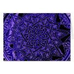 Tarjeta en blanco de la estrella púrpura