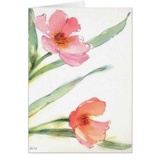 tarjeta en blanco de la flor