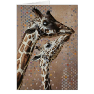 Tarjeta en blanco de la jirafa de Andrew Denman