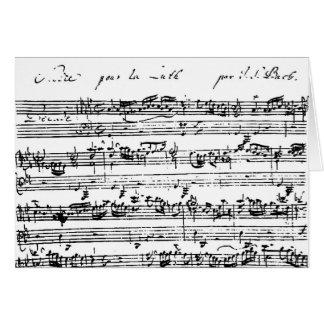 Tarjeta en blanco de la música de Bach