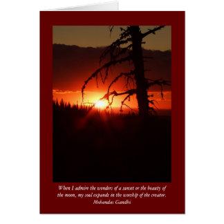 Tarjeta en blanco de la puesta del sol de Idaho