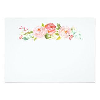 """Tarjeta en blanco de la rosaleda invitación 5"""" x 7"""""""