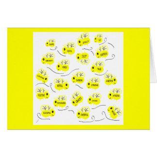 Tarjeta en blanco de las moralejas de la abeja