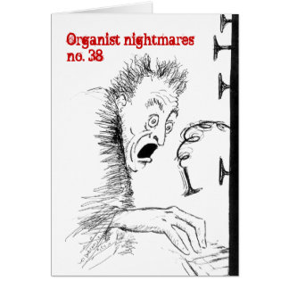 Tarjeta en blanco de las pesadillas no.38 del orga