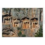 Tarjeta en blanco de las tumbas de la roca de Lyci