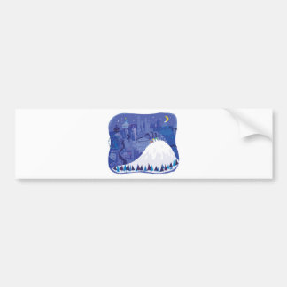 Tarjeta en blanco de las vacaciones de invierno de etiqueta de parachoque