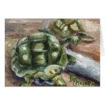 Tarjeta en blanco de los amigos de la tortuga