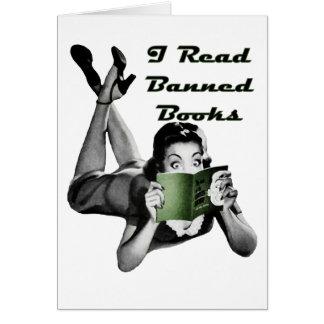 Tarjeta en blanco de los libros prohibidos