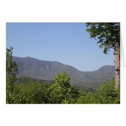 Tarjeta en blanco de New Hampshire de la montaña d