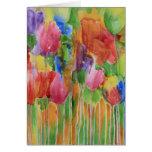 Tarjeta en blanco de Palooza del tulipán