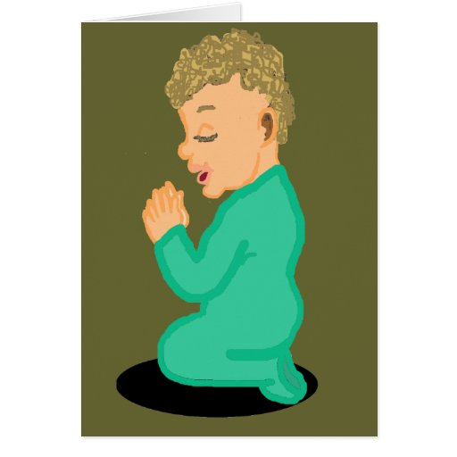 Tarjeta en blanco de rogación del niño