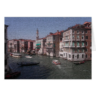 Tarjeta en blanco de Venecia